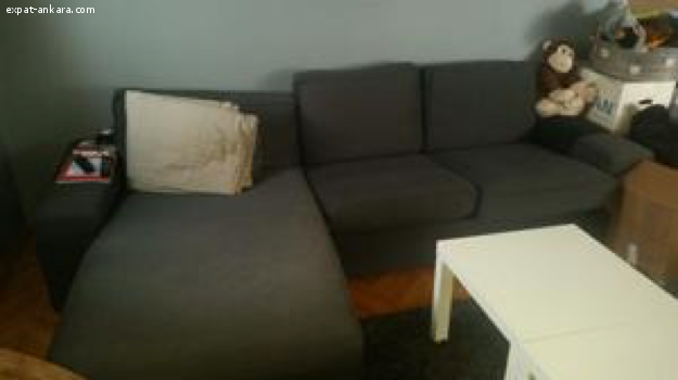 2-seat sofa and chaise longue