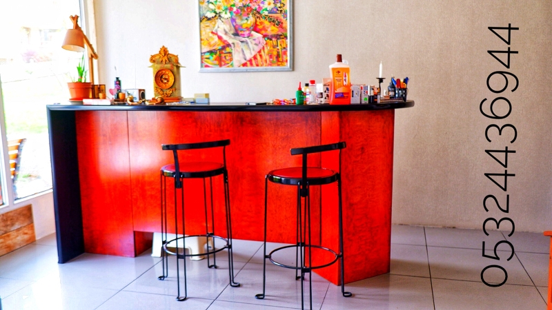 Bar. Special design. With 3 chairs.