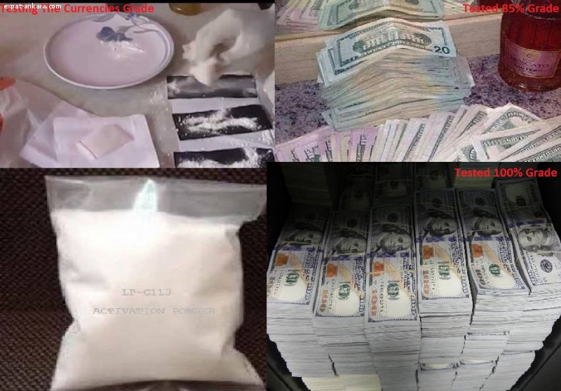 Defaced currencies cleaning CHEMICAL, ACTIVATION POWDER