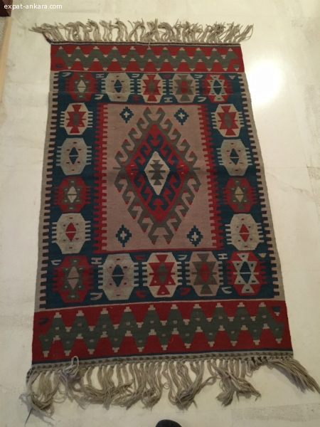 Handwoven Turkish kilim