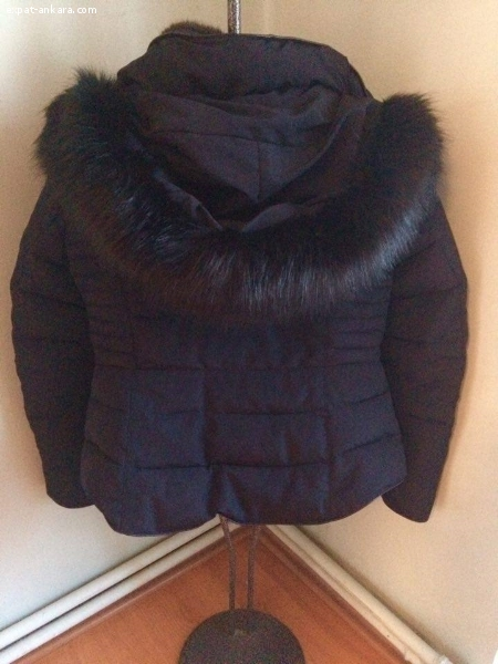 New black quilted Zara winter coat with detachable hood4sale