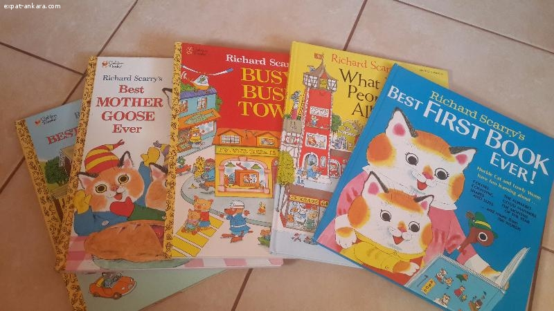 Richard Scarry book set of five
