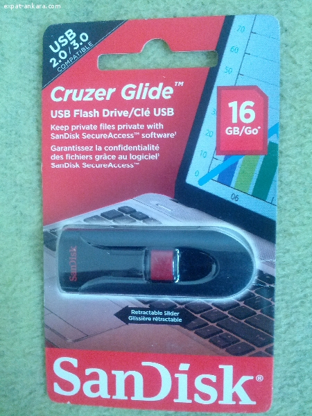 San Disk USB Flash Drive Cruzer Glide 16GB