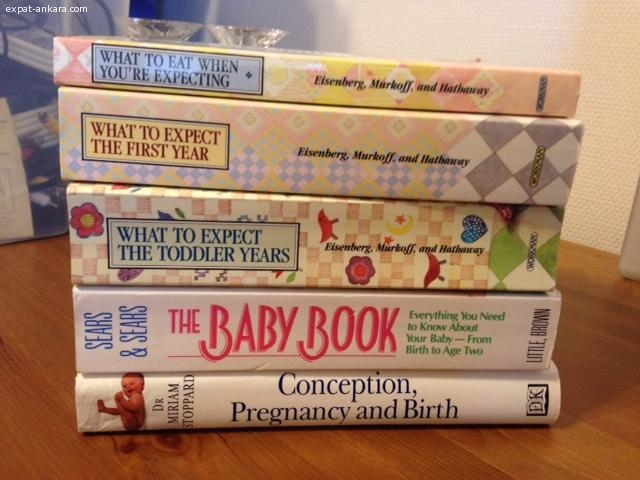 Tons of English books for pregnancy, teens and kids
